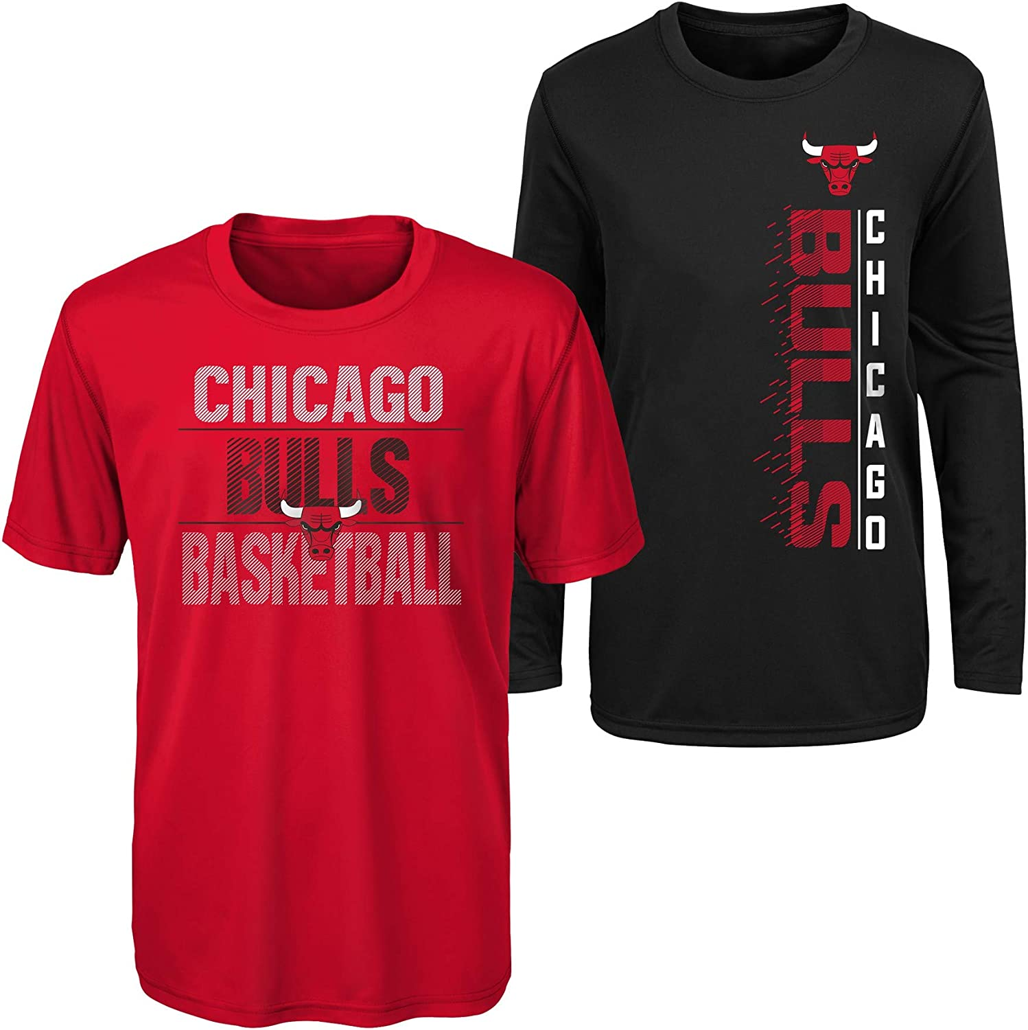 Outerstuff NBA Youth Boys (8-20) Performance Long and Short Sleeve T-Shirt Combo, Team Variation