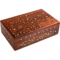 Hand Crafted Wooden Decorative Trinket Jewelry Box Organiser