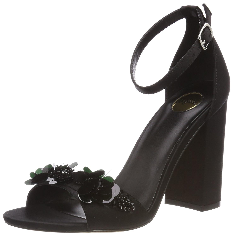 Buffalo Femme 317-0740 Satin, Sandales Bride Cheville Femme Noir Noir (Black (Black 01) 6f14908 - latesttechnology.space