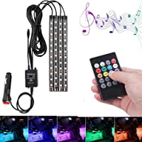 DSOW4Pcs LED Light Kit RGB Strips Lighting Waterproof Accent Glow Ground Effect Lights App APP control