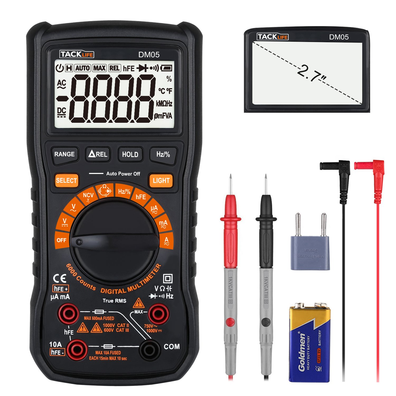 Multímetro Digital, Tacklife DM05 Polimetro 6000 counts, Manual