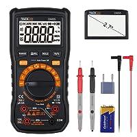 Tacklife DM05 Klassisches Digital Multimeter Auto-Range/Manuelle Bereichswahl mit 6000 Counts, Messen von AC/DC- Spannung