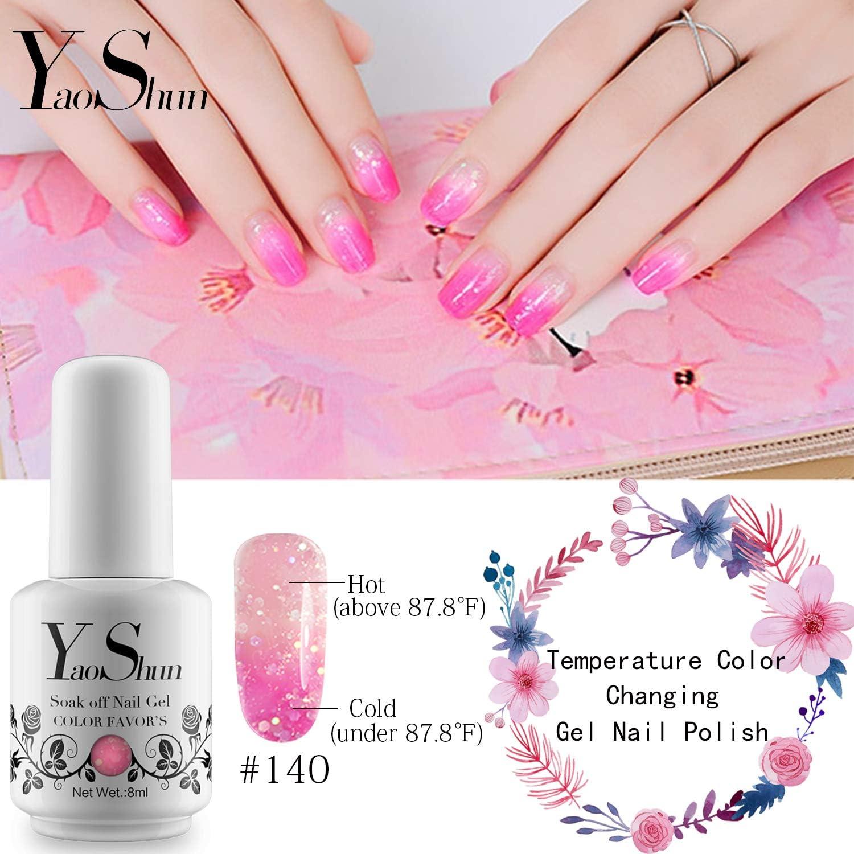 Amazon.com: YaoShun Gel Esmalte de Uñas Soak Off Gel Uñas UV ...