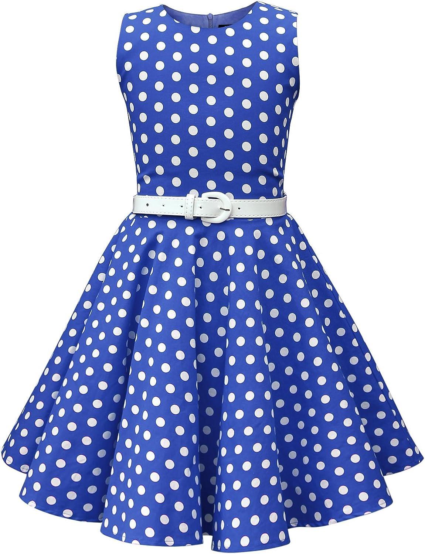 BlackButterfly Kids Audrey Vintage Polka Dot 50s Girls Dress