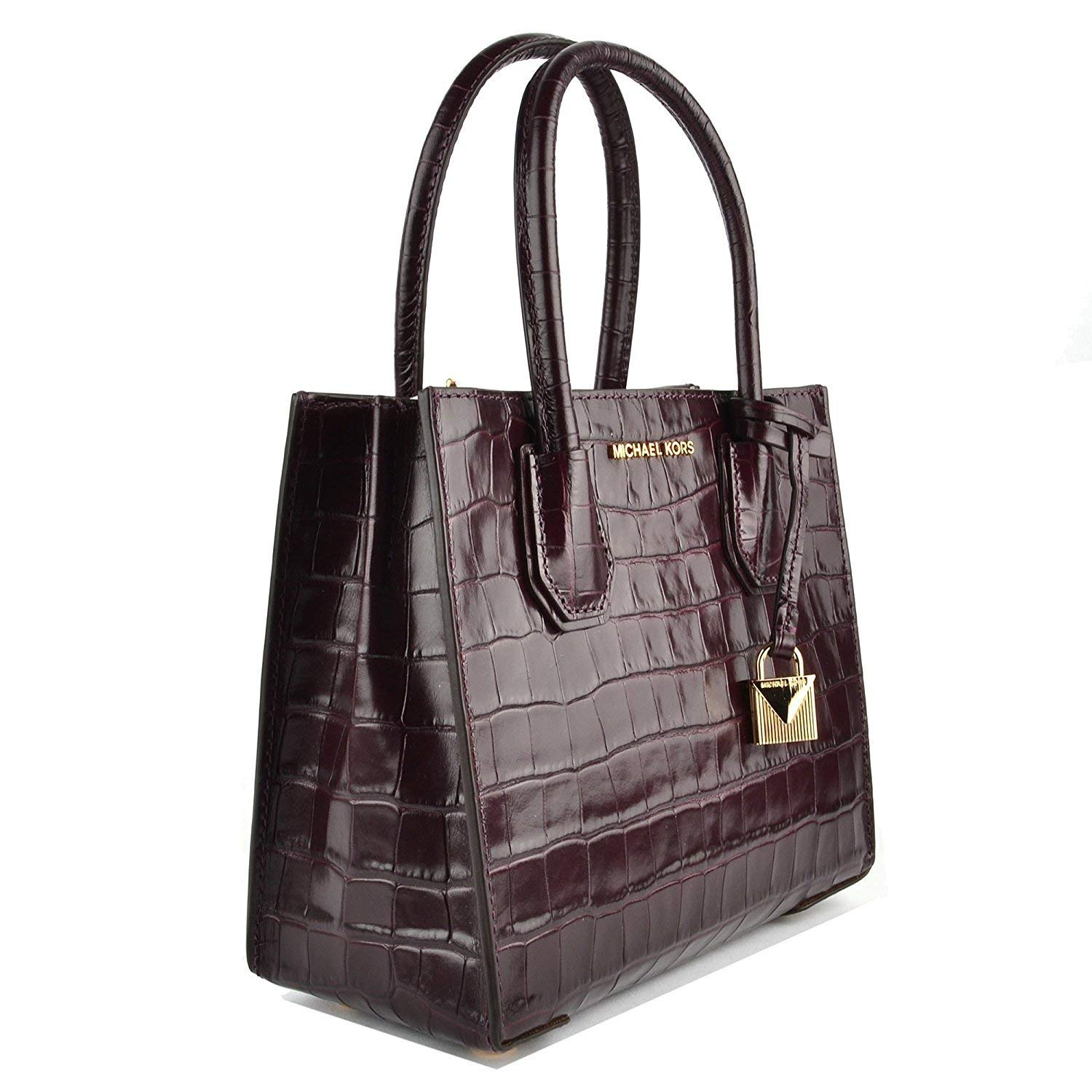 9fb31e461bd8 MICHAEL by Michael Kors Mercer Damson Crocodile Effect Messenger Bag Damson  one size: Amazon.co.uk: Shoes & Bags