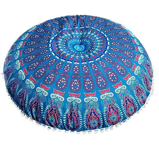 Watopi - Funda de cojín con diseño de Mandala Indio (43 cm ...