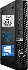 Dell OptiPlex 5080 Micro Desktop Computer – 10TH Gen Intel Core i5-10500T Upto 3.8GHz - 16GB RAM, 256GB M.2 NVME SSD, AX Wi-Fi, Bluetooth 5.0, DisplayPort, HDMI, USB Type-C - Windows 10 Pro