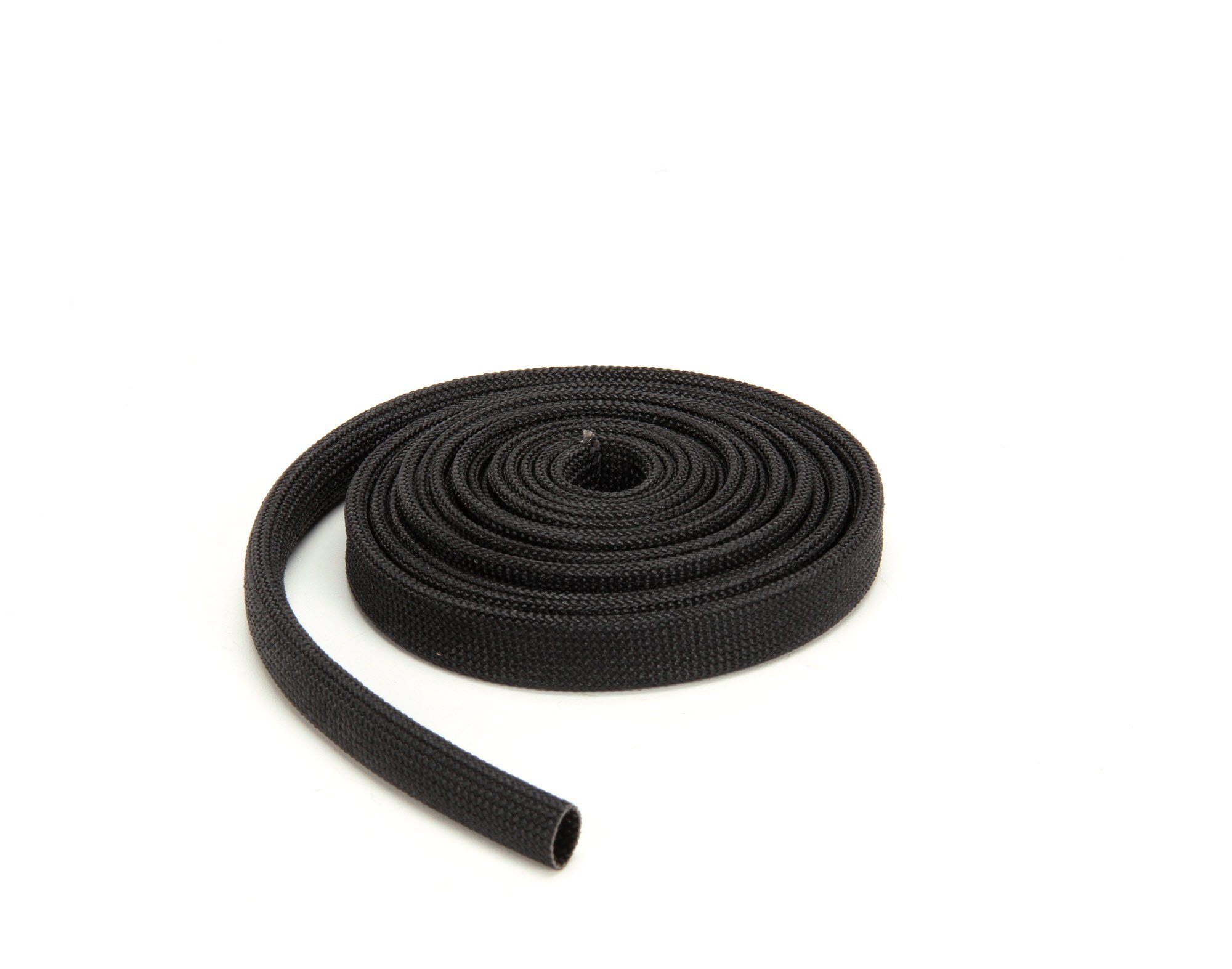 Techflex FGN0.38BK10 Insultherm High-Temperature Resin-Coated Fiberglass Braided Sleeve, 3/8'' x 10'