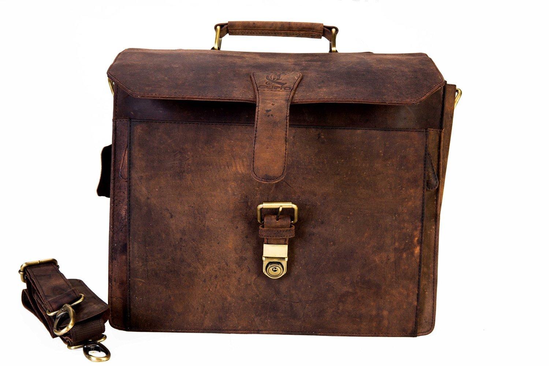14 Leather Office Bag Vintage Leather Messenger Satchel Briefcase Bag for Mens and Women Leather Laptop Macbook Bag CUERO cuero-01