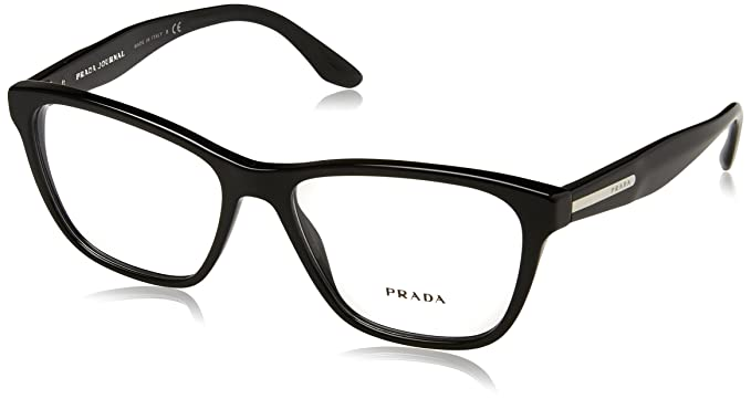 Amazon.com: Prada PR04TV Eyeglass Frames 1AB1O1-52 - Black PR04TV ...
