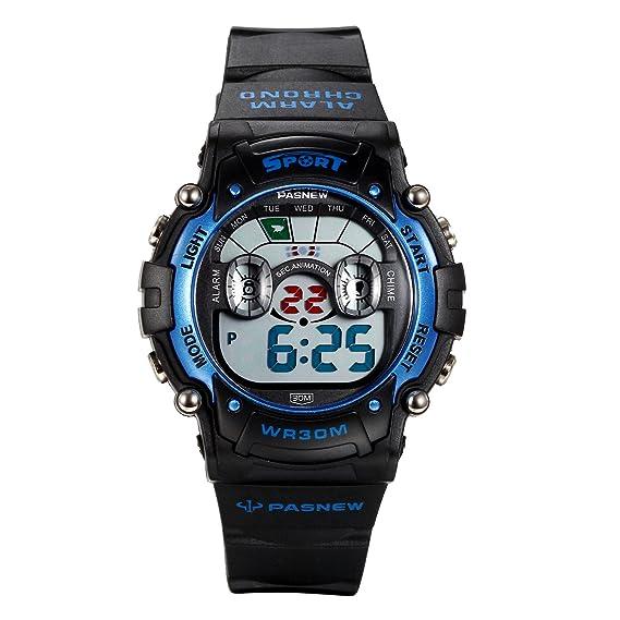 Lancardo Reloj Deportivo Digital con Dibujo de Camello Encantador Impermeable de 30M Correa de Silicona Multifunciones