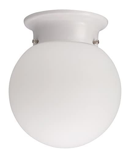 Lithonia Lighting 11981 WH M4 Round 6-Inch Ceiling Globe, White