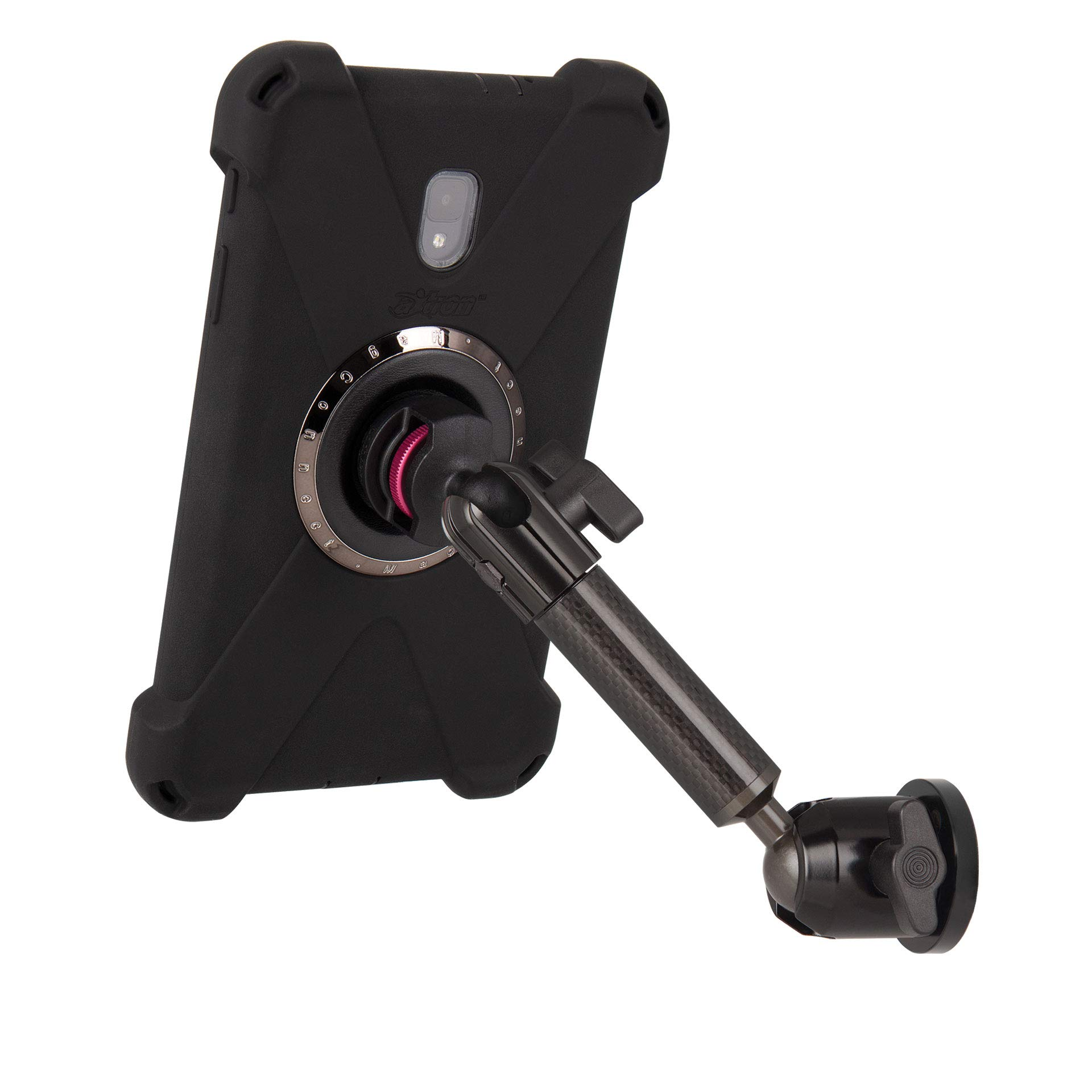 The Joy Factory MagConnect Carbon Fiber Single Arm Wall/Cabinet Mount w/aXtion Bold M Water-Resistant Rugged Shockproof Case for Samsung Galaxy Tab A 8'' (MWS3021M)