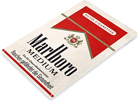 Amazon.com: Tinworld TIN C409 Marlboro - Cartel retro de ...