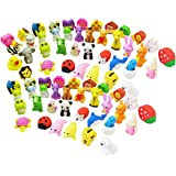 Gauss Kevin 25 Pcs Assorted Adorable Animal Collection Pencil Erasers Novelty Japanese Erasers Children's Day Gift Party Fun Games Random