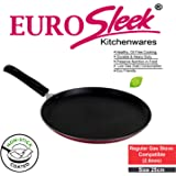 EuroSleek Non Stick Dosa Tawa Regular Gas Stove Compatible (25 cm /250 mm/10 Inches) (Size No.11) (2.6mm Thickness)