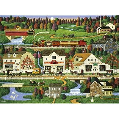 1000 Piece Jigsaw Puzzle - Charles Wysocki - Yankee Wink Hollow: Toys & Games
