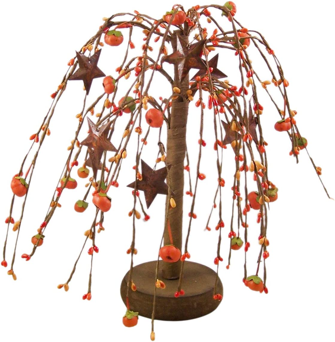 Needzo Fall Tree Decorations, Rustic Pumpkin and Star Tree, Autumn Harvest Table Decor for Home, 18 Inch