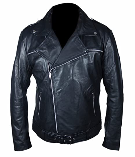 eed1d5802 Feather Skin Mens Clothing Negan The Walking Dead Leather Jacket