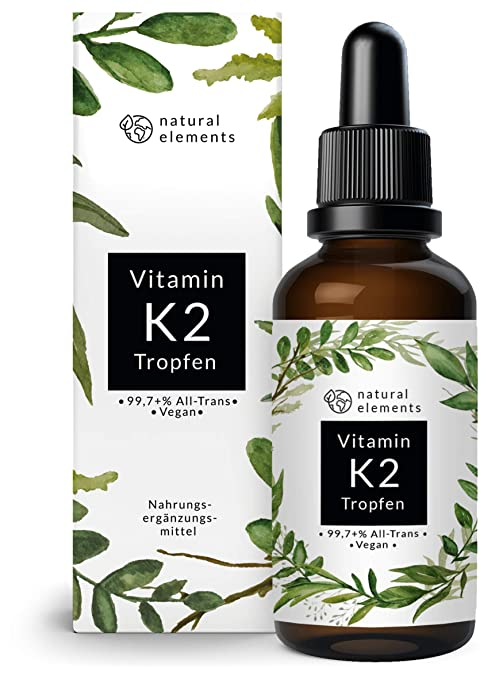 Vitamin K2 MK-7 Tropfen 200µg 50ml - Premium: K2VITAL® von Kappa - 99,7+% All-Trans - Laborgeprüft, vegan, hochdosiert, und h