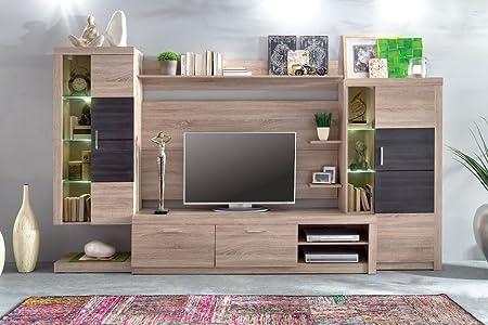 elbectrade Salón Moderno Baku, composición Mobile Porta TV con LED, Pared de diseño: Amazon.es: Hogar