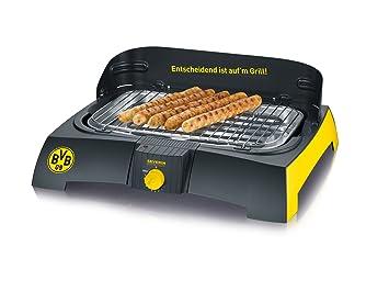 Severin Elektrogrill Günstig : Amazon severin pg barbecue grill bvb schwarz gelb