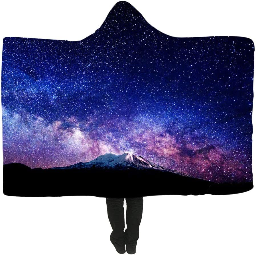 Warm and Comfy Artist Designed ROYAL JELLY Premium Hooded Blanket with Wrist Straps Silky Soft Vibrant Print