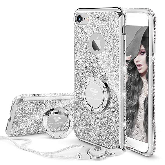 a1bcded3a2b OCYCLONE iPhone 6s Plus Case, iPhone 6 Plus Case for Girl Women, Glitter  Cute
