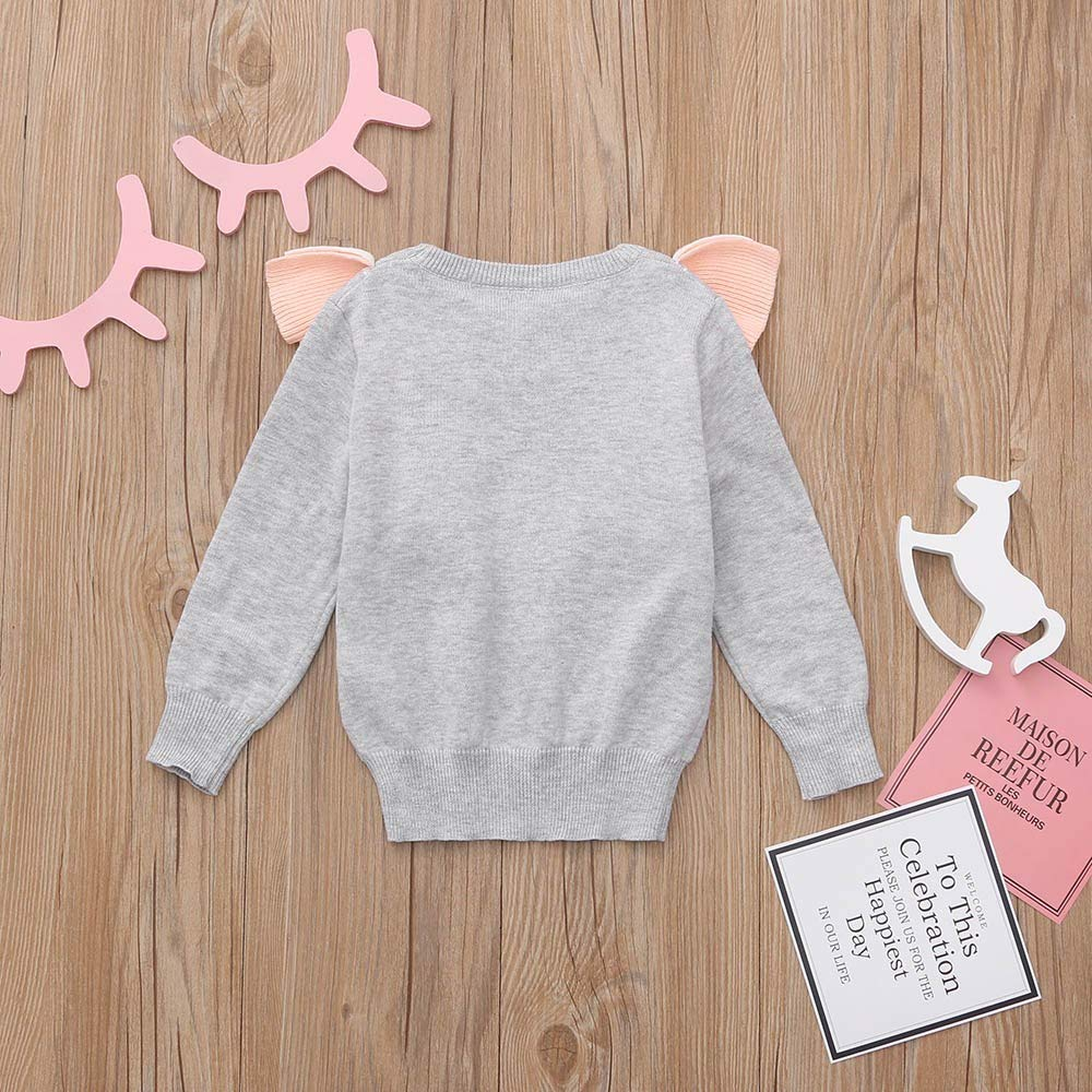 KONFA Teen Toddler Baby Girls Winter Tops Clothes,Long Sleeve Cartoon Swan Ruffles T-Shirt Blouse Pullover,for 1-5 Years