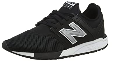 on sale d8940 64121 New Balance 247v1, Baskets Homme, Noir (Black Silver Red Rococo),