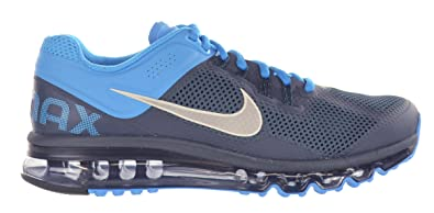 new styles 9acd9 4d3cd NIKE Air Max+ 2013 Men s Running Shoes Armory Navy Reflective Silver Blue