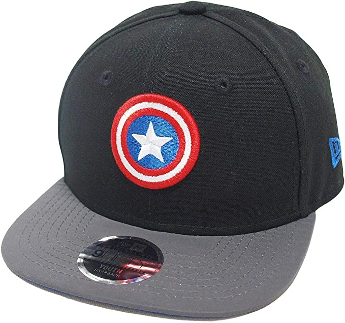 New Era Captain America 9fifty 950 Azure Scarlet Youth Snapback Cap Kids Kinder Children Limited Edition