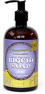 product image for {Soaptopia} - Luxury Foaming Liquid Soap Made with Organic, All Natural Ingredients for Face, Body, and Hands - Scented with Lavender to Soothe & Deep Clean - Motley Hue (12 oz)