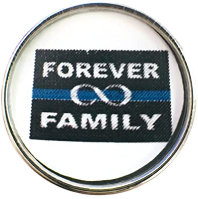 Amazon Fashion Snap Jewelry Thin Blue Line Forever Family