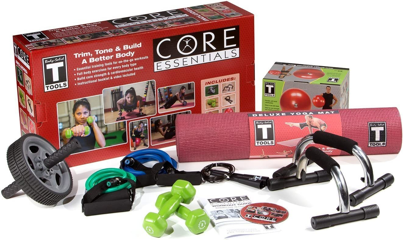 Body-Solid Tools Ab Workout Package for Home Gym (BSTPACK)