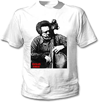 teesquare1st Mingus Charles Camiseta Blanca para Hombre de Algodon: Amazon.es: Ropa y accesorios