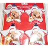 Create Your Own Christmas Tree Photo Baubles Decorations - star - Photo Ornaments (4 Pack) Each Holds Two Photos with Template's Included …