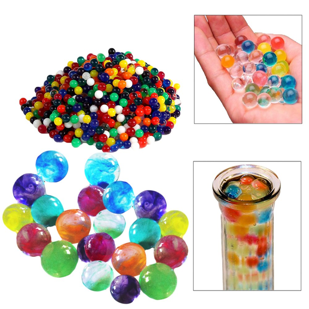 1000 Pearls//Beads per pack Toy Cubby Adorable Colorful Crystal Water Pearls