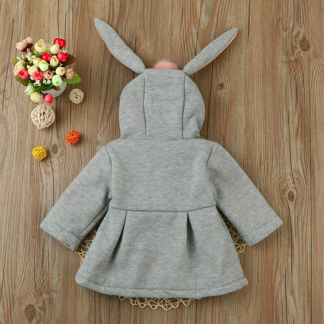 12-18M, Gray Sagton Baby Infant Girls Winter Warm Coat Jacket Chuzzle Thick Cold Resistant Clothes