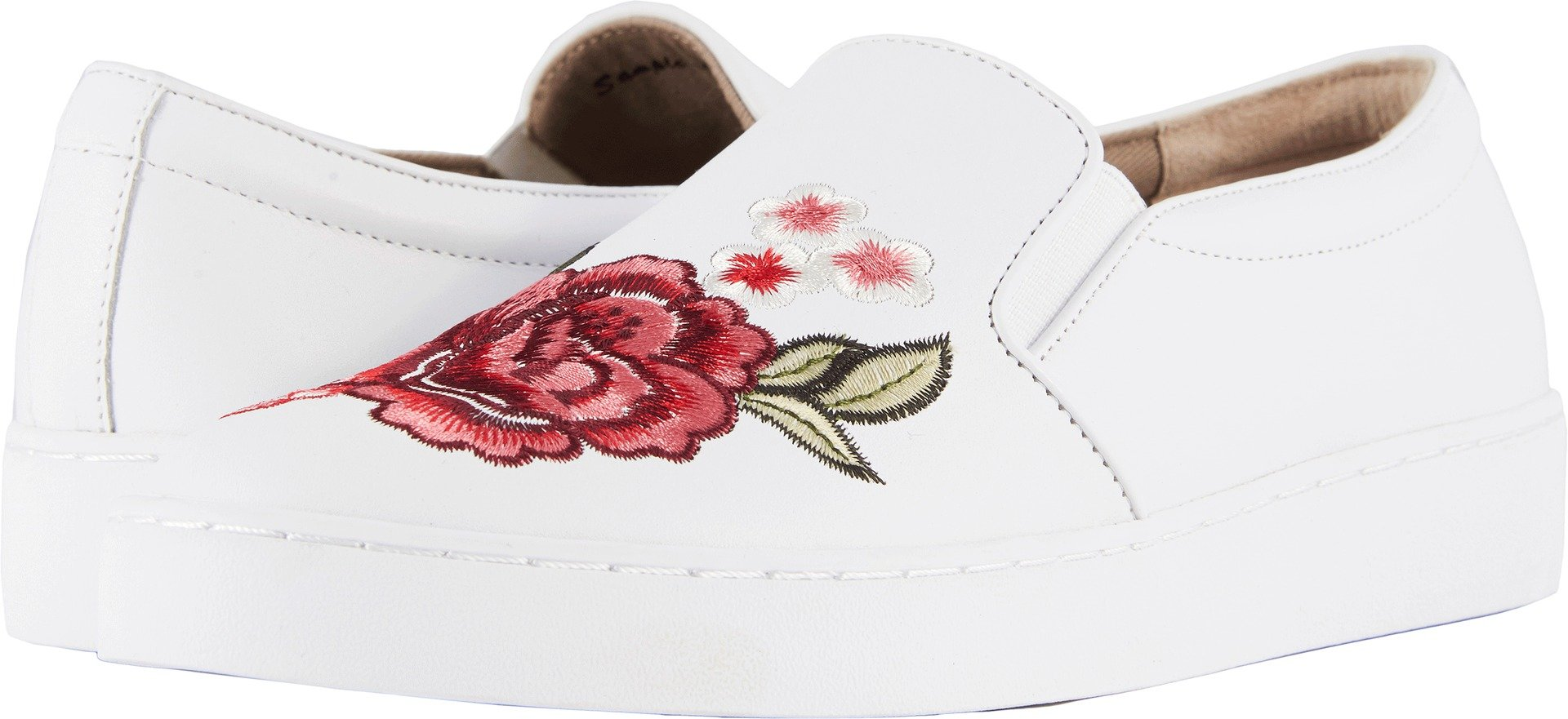 Vionic Womens Midi Floral Slip-On Sneaker, White Floral, Size 5