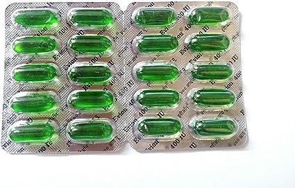 NK GLOBAL Evion Vitamin E 400mg Cápsulas Para rRostro, Crecimiento Del Cabello, Uñas, Piel Brillante Conjunto De 50 Piezas De Vitaminas Naturales Para El Rostro Vegano: Amazon.es: Belleza