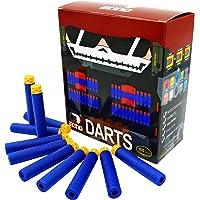 EKIND 100 Pcs 7.2cm TPR Waffles Soft Head Darts Refill Foam Bullet Compatible for Nerf N-Strike Elite AccuStrike Series…