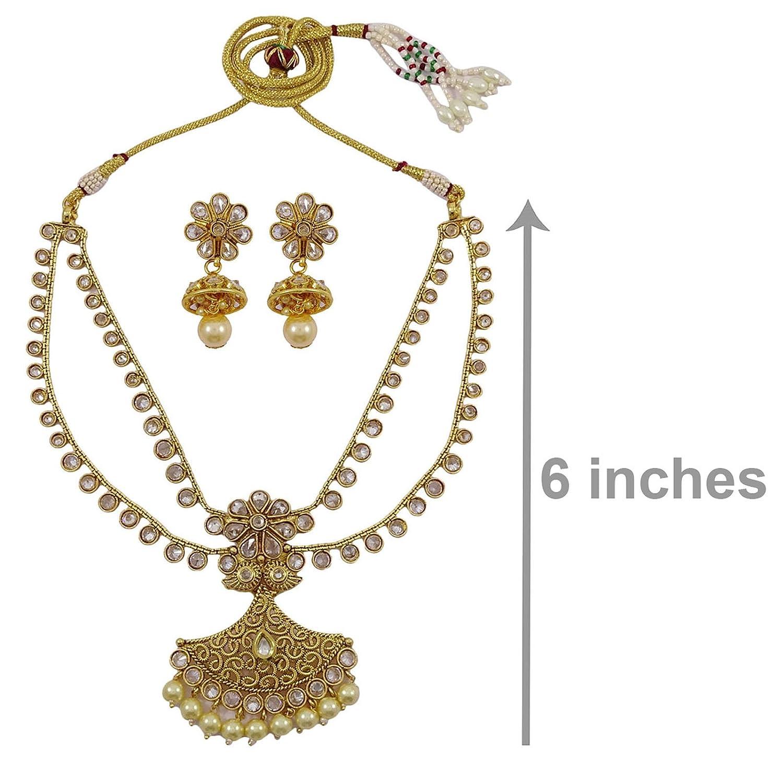 Amazon Matra Goldtone Kundan Polki 2 Pcs Necklace Set Ethnic