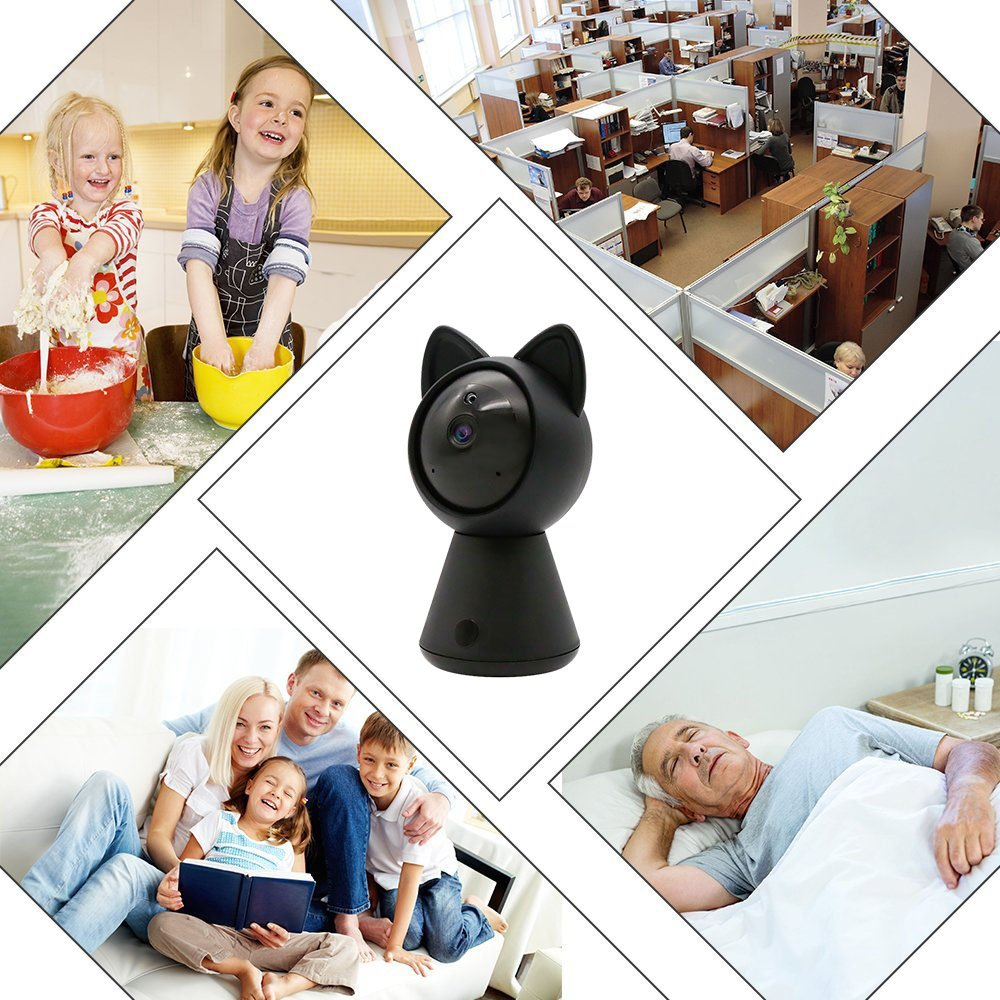 Pet IP Camera WiFi Cam HD 1080P Cute Cat camera Home Security Surveillance Wireless System Dome Camera Nanny Baby Cam Indoor Monitor Pan/Tilt with Night Vision 2-Way Audio Motion Detection alarm B by LUFASA (Image #4)