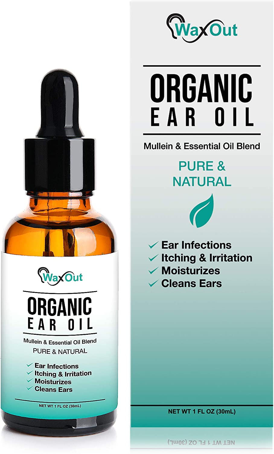 Amazon Com Natural Mullein Ear Wax Removal Oil Cleaner With Garlic Pain Earache Drops Earwax Softener Moisturizer Allergy Soothing Tinnitus Itching Ringing Infections Clogged Ears Relief