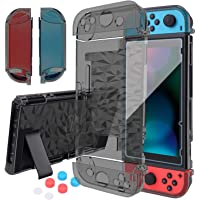 Case for Nintendo Switch Dockable, Clear Black Protective Case Cover for Nintendo Switch and Joy-Con Controller with a…