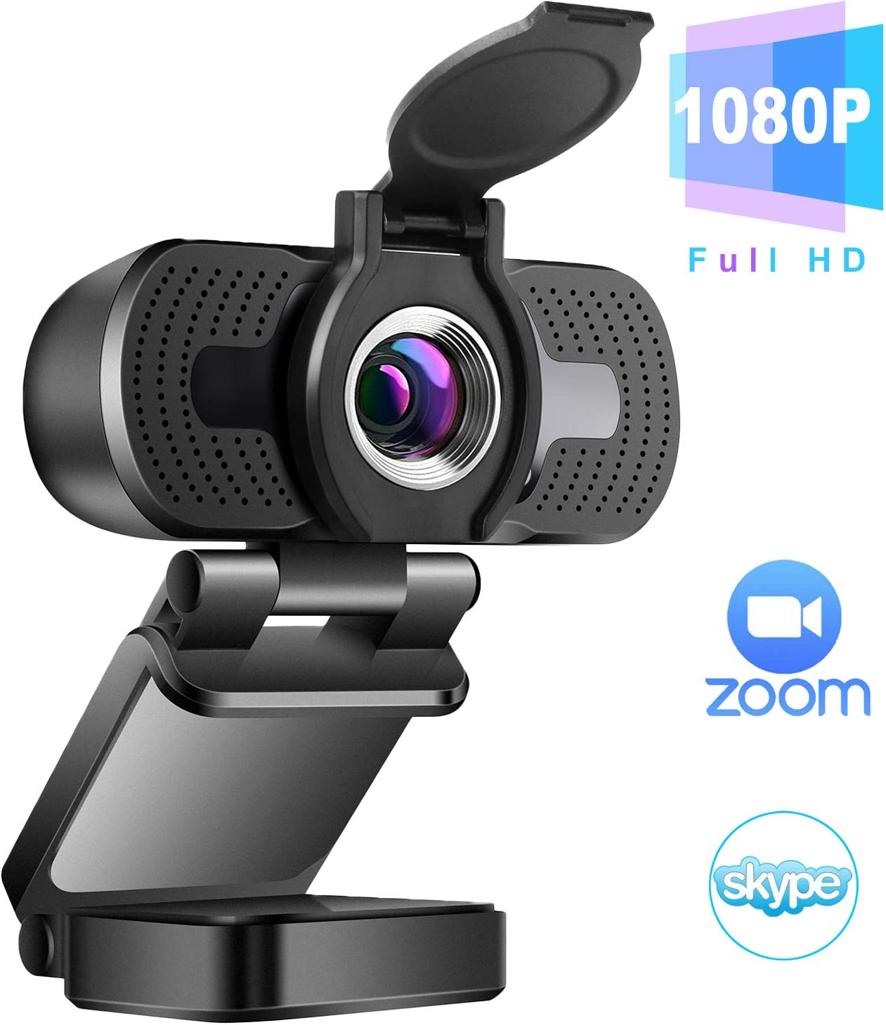 Amazon.com: 1080P Webcam with Microphone & Privacy Cover, ZILINK Web Cam  USB Camera for PC Laptop, Desktop Computer HD Streaming Webcam for Zoom  YouTube Skype, Wide Angle, Auto Light Correction, Windows Mac