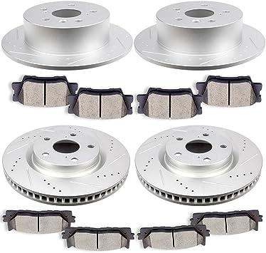 Front Brake Rotors and Ceramic Pad 2007-2009 2010 2011 2012 2013 2014 2015 CAMRY