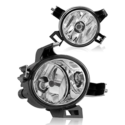 AUTOFREE OEM Style Fog lights for Nissan 05-06 Altima/04-06 Quest, Lamps Replacement 1 Pair with Halogen Bulbs H11 12V 55W (Clear Lens): Automotive