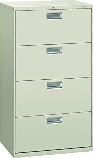 product image for HON 674LQ 600 Series 30-Inch by 19-1/4-Inch 4-Drawer Lateral File, Light Gray